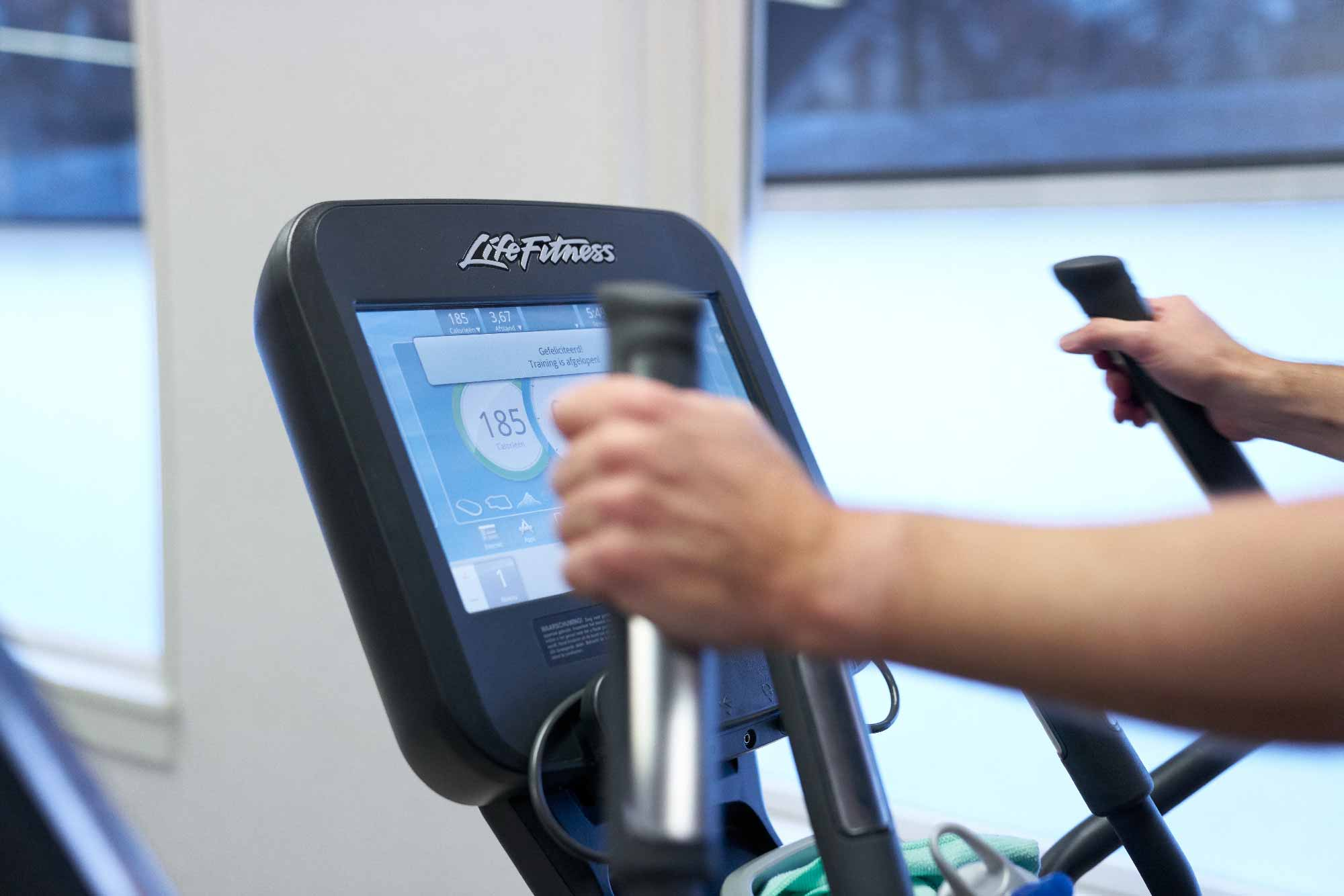 fitness met tabletconsole frits van der werff