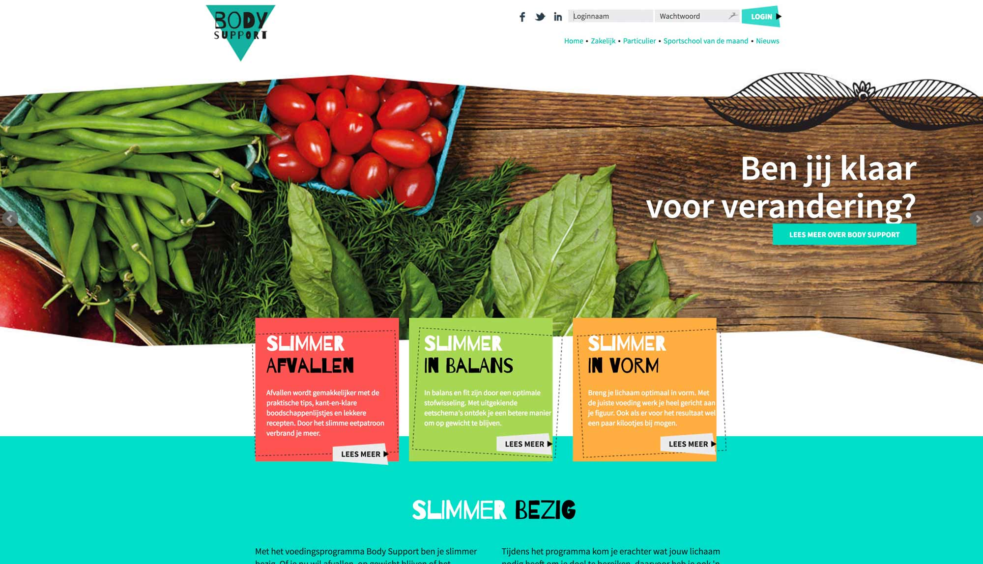 voeding met body support
