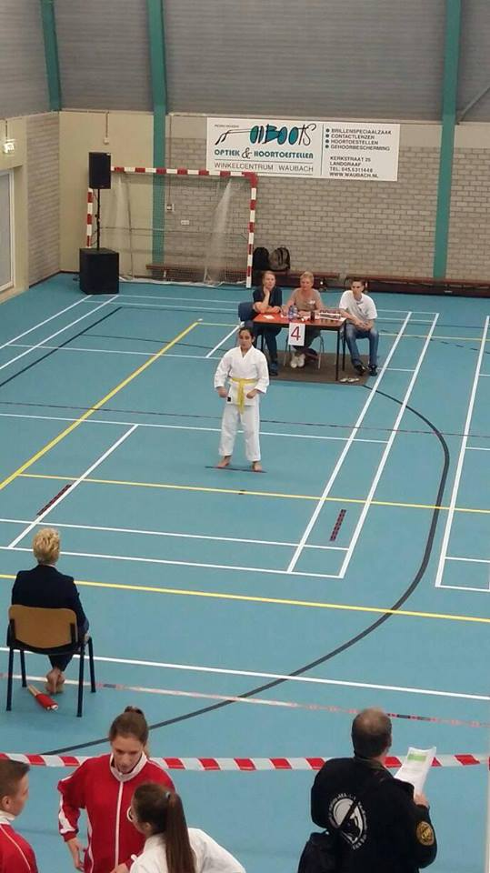 Dit is een foto van een judowedstrijd van jeugdjudo bij Sportinstituut Frits van der Werff in Hoorn